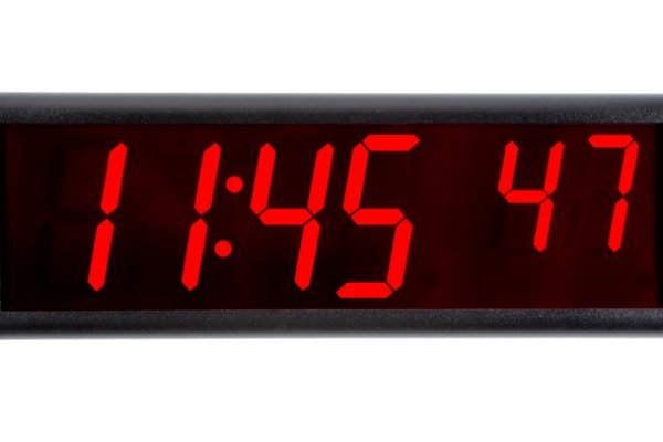Ont6bk ontime 6 digit poe clock black aluminium red led